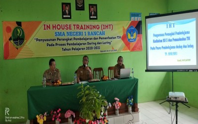 In House Training (IHT) SMAN 1 Rancah